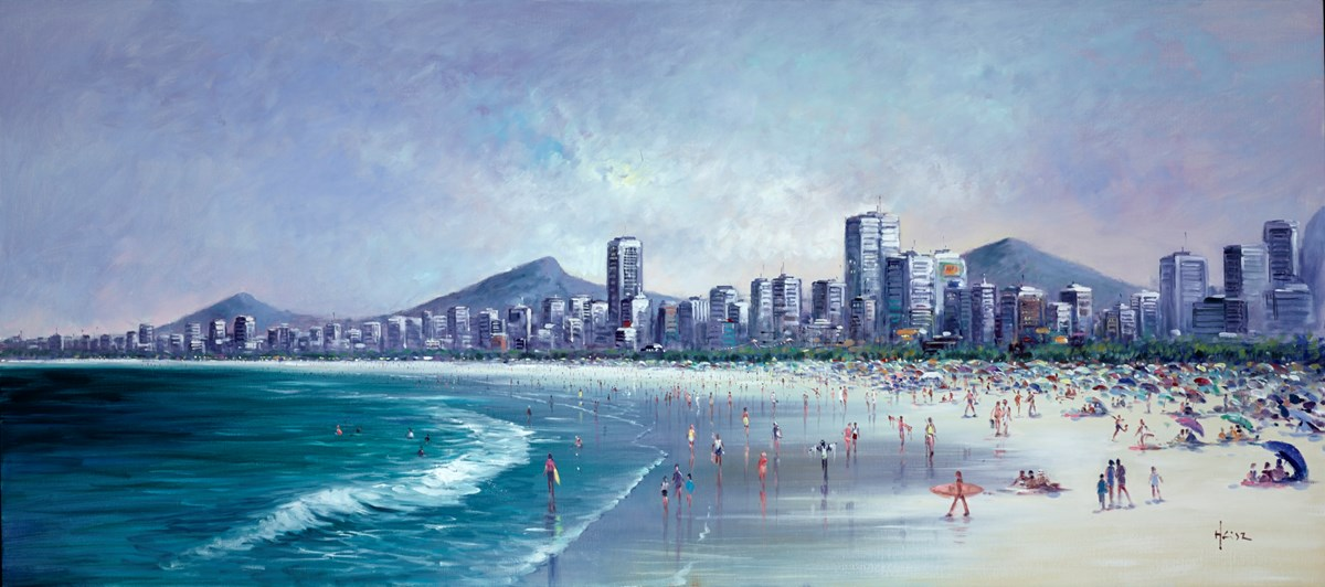 Along the beach, Rio De Janeiro by henderson cisz -  sized 54x24 inches. Available from Whitewall Galleries
